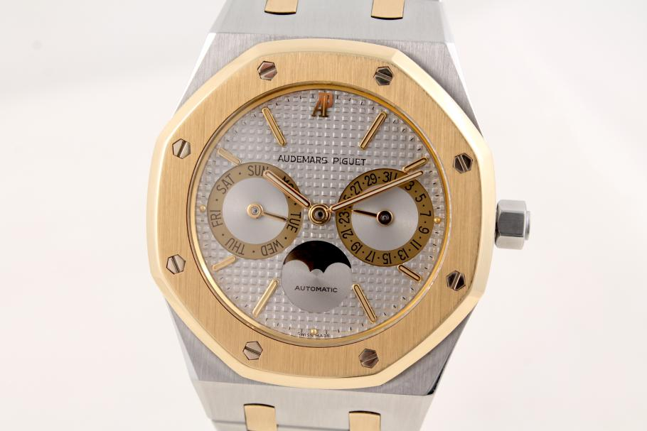 Audemars Piguet Royal Oak Day-Date-Moon Stahl/ Gold