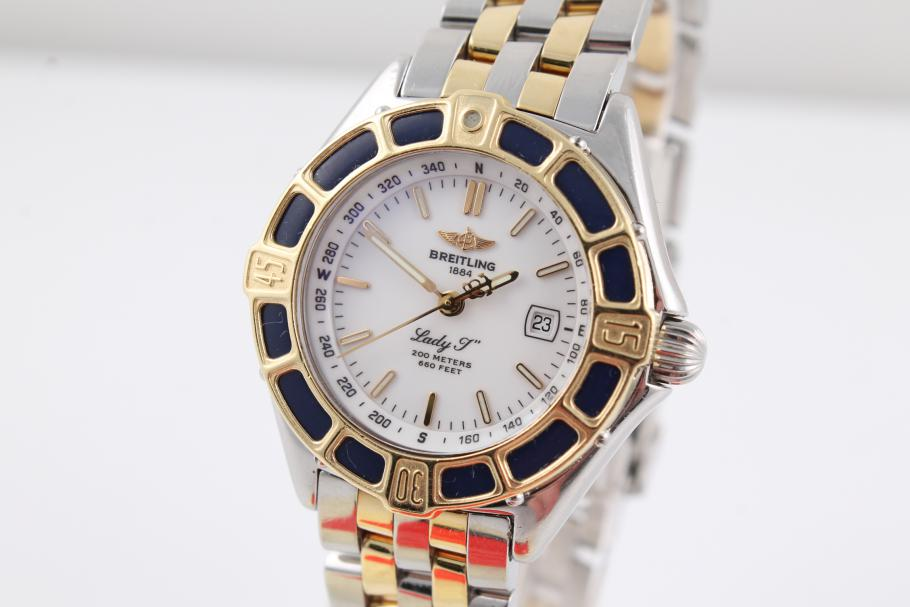 Breitling Lady J in Stahl/ Gold