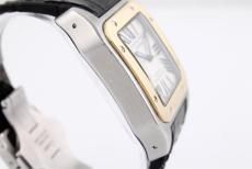 Cartier Cartier Montre Santos 100 XL in Stahl/ Gold