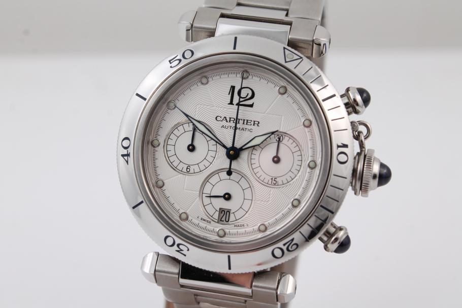 Cartier Pasha Chronograph in Stahl
