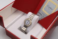 Cartier Santos Ronde Stahl/Gold with New Service August 2021