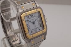 Cartier Santos Stahl/ Gold Automatik