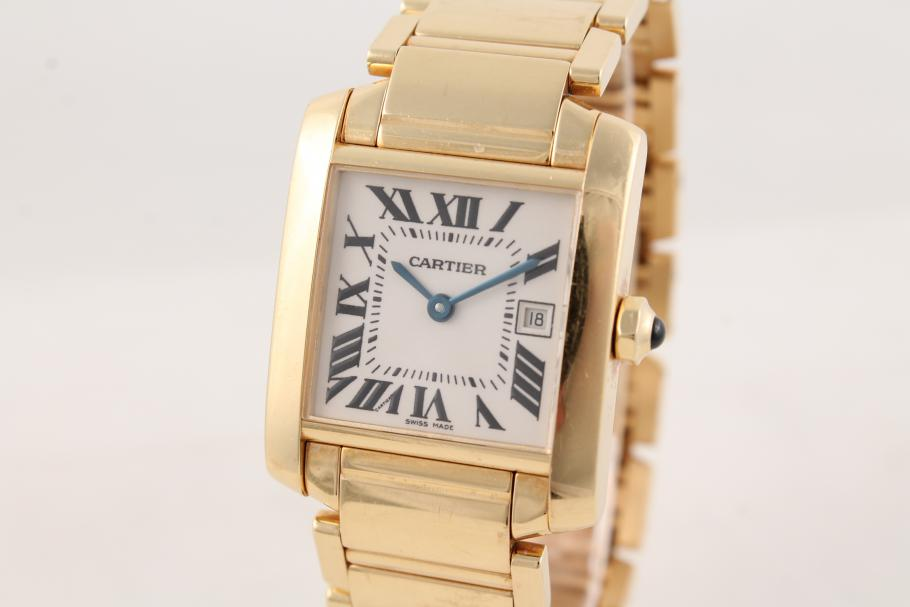Cartier Tank Francaise Ladies 18k Gelbgold
