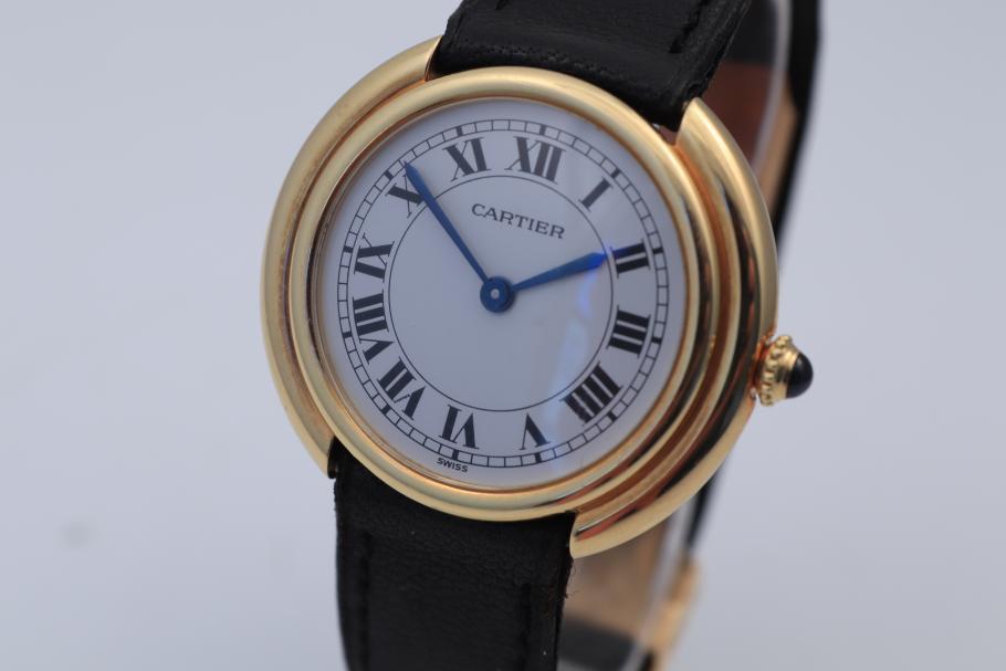 Cartier Vendome Handaufzug Gelbgold