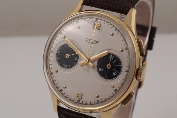 Heuer Chronograph 18K Yellowgold