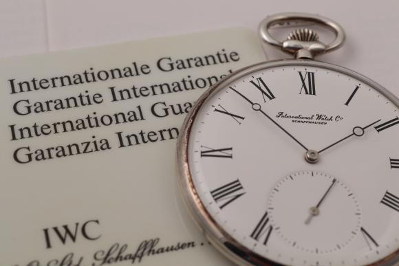 IWC Pocketwatch Lepine 925 Silber/ papers/ service 2009