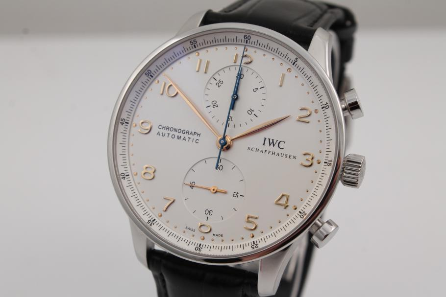 IWC Portugiese Chronograph in Stahl