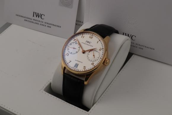 IWC Portugieser Automatik Rotgold 7-Tage