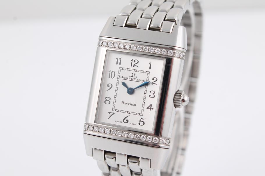 Jaeger-LeCoultre Reverso Damenuhr mit Diamantbesatz