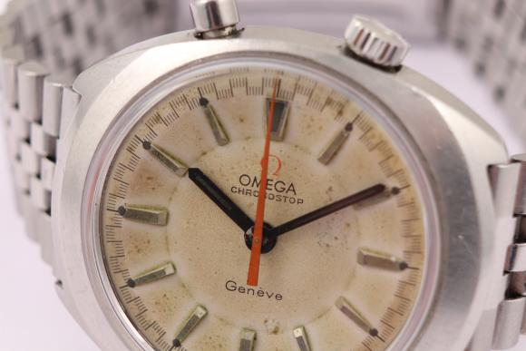 Omega Chronostop drivers watch 1968