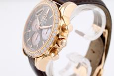 Omega DeVille Co-Axial Chronograph Damenuhr mit Diamantbesatz
