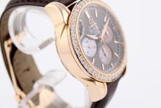 Omega DeVille Co-Axial Chronograph Damenuhr mit Diamantbesatz