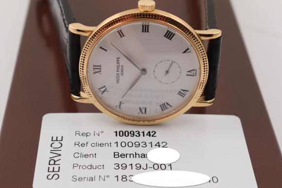 Patek Philippe Calatrava Ref. 3919J/ unworn after Service 11/2018!