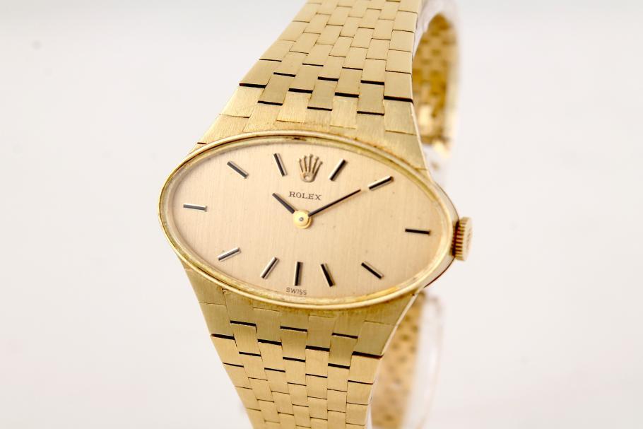 Rolex Damenuhr 60er Jahre in 18k Gelbgold