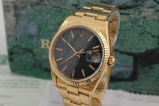 Rolex Date Gelbgold mit Oysterband