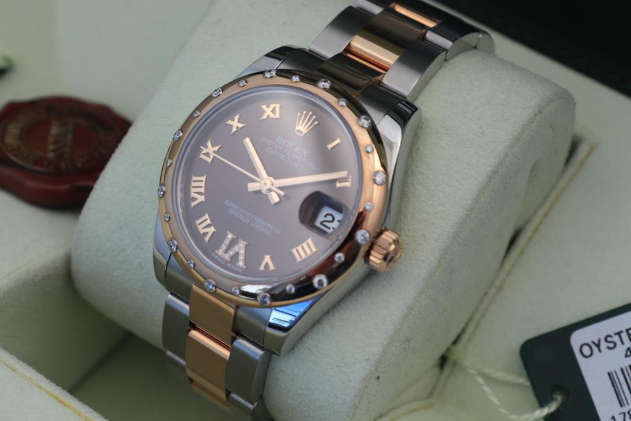 Rolex Datejust 31 Everose/ Stahl brown-dia/ NOS