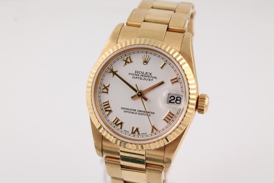 Rolex Datejust Medium in Gelbgold
