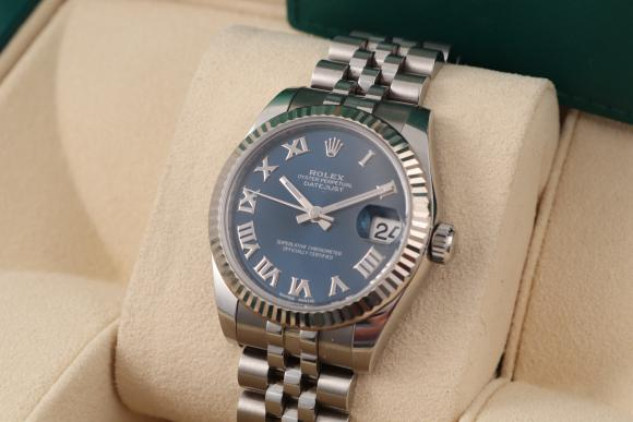 Rolex Datejust Medium steel/ blue 2017!