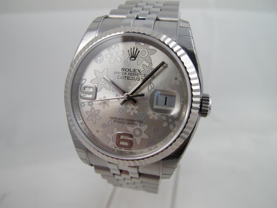 Rolex Datejust Ref. 116234 mit floralem Blatt