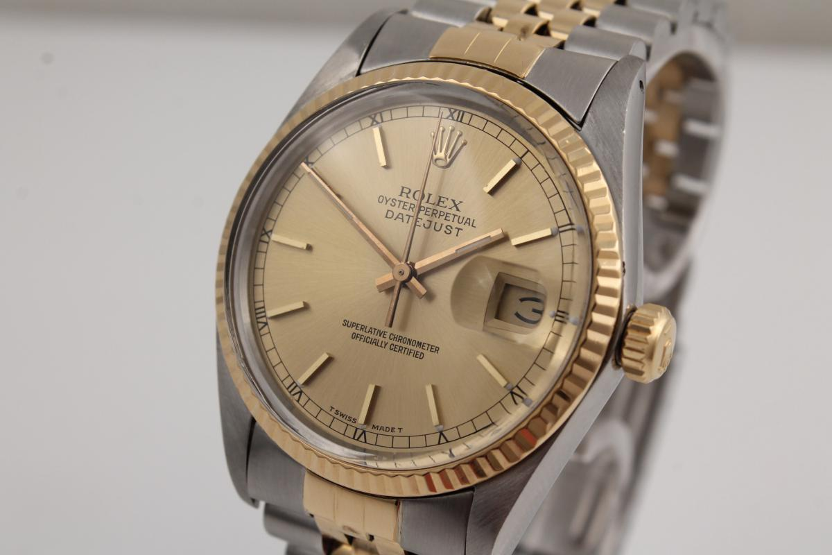 rolex datejust stahl gold chronometrie pietzner. Black Bedroom Furniture Sets. Home Design Ideas