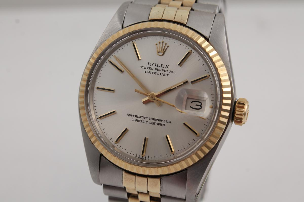 rolex datejust stahl gold ref 16013 chronometrie pietzner. Black Bedroom Furniture Sets. Home Design Ideas