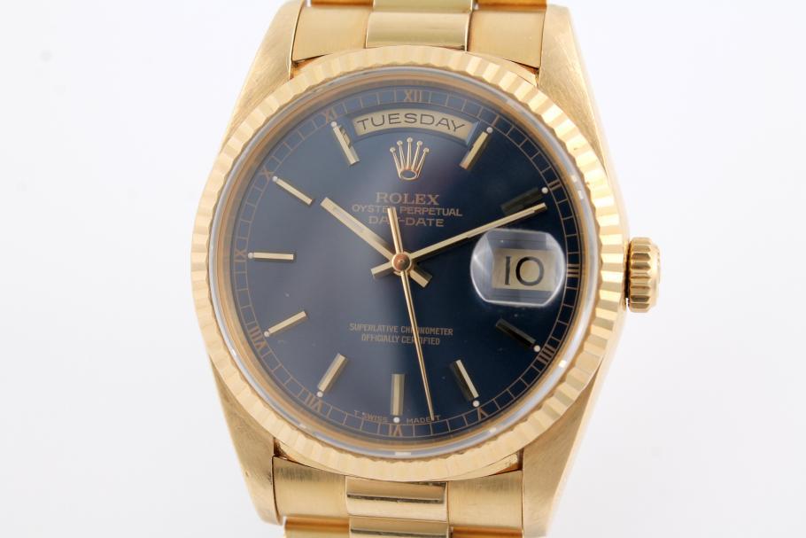 Rolex Day-Date Ref. 18238 blaues Zifferbaltt