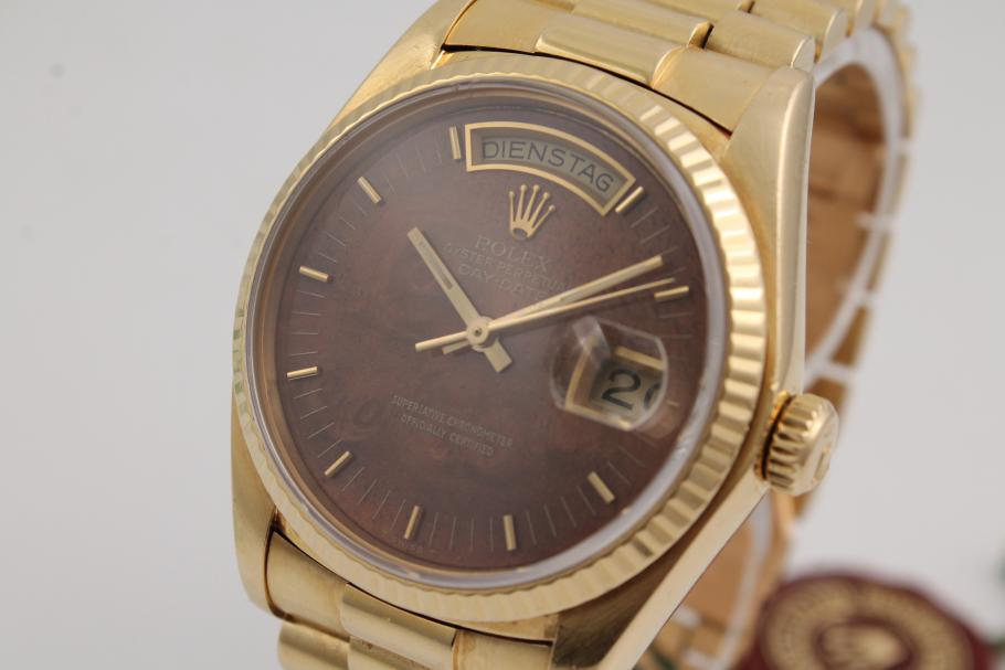 Rolex Day-Date Yellowgold wooden-dial!