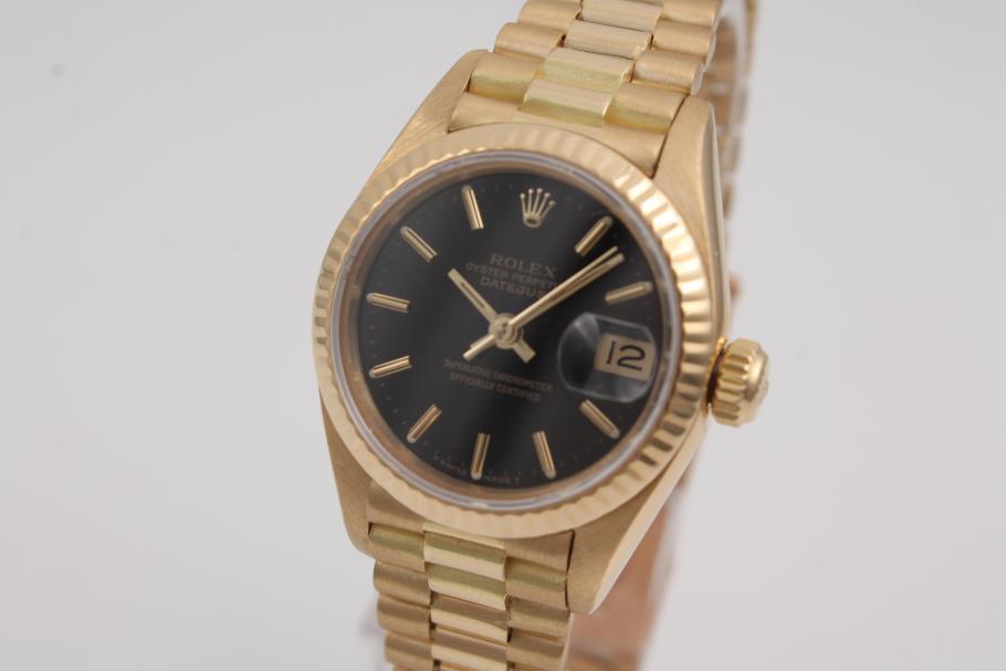 Rolex Lady Datejust 18K Gelbgold
