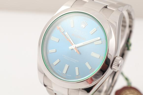 Rolex Milgauss green/ blue