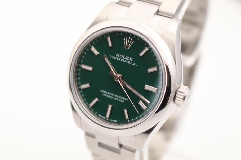 Rolex Oyster 31mm/ 2020/ green/ unworn