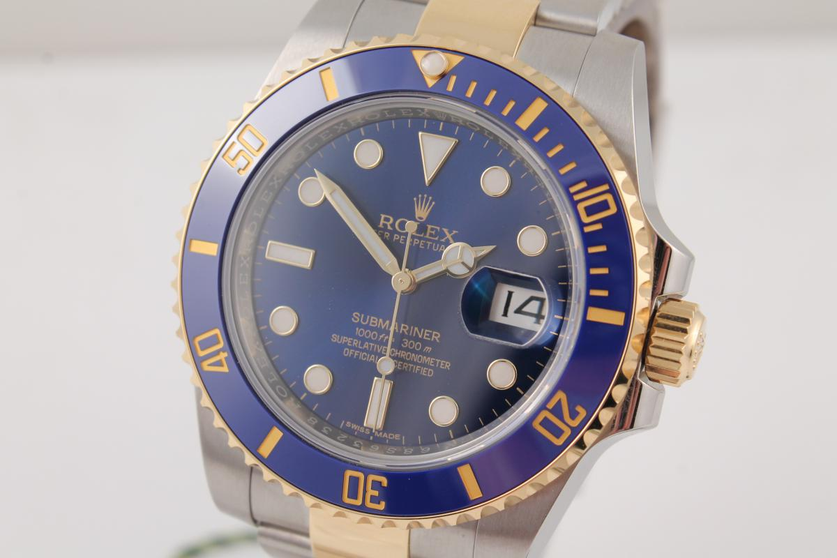 rolex submariner stahl gold ref 116613lb chronometrie. Black Bedroom Furniture Sets. Home Design Ideas