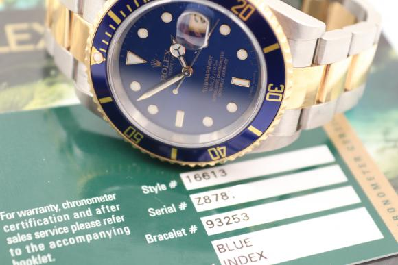 Rolex Submariner Stahl/ Gold blue