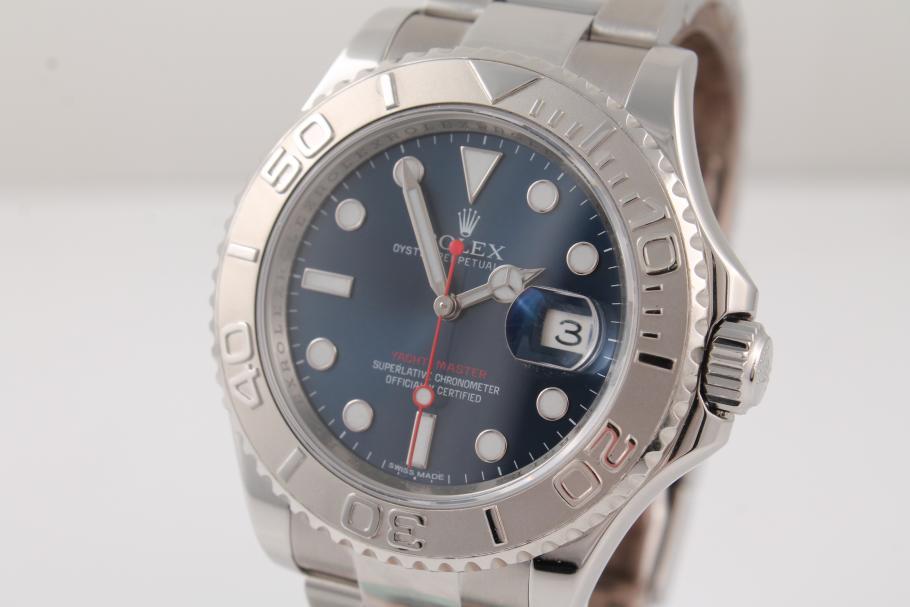 Rolex Yachtmaster Stahl mit blauem Blatt Ref. 116622