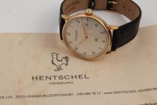 Hentschel Hamburg Herrenuhr 18K Gelbgold