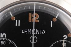 Lemania Chronograph Monopusher English Military